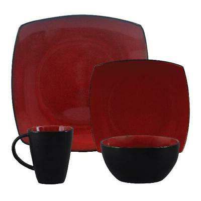 Beautiful And Red Dinnerware Round Square Plates