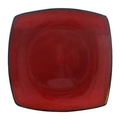 Beautiful 16-Piece Red Square Plates Mugs