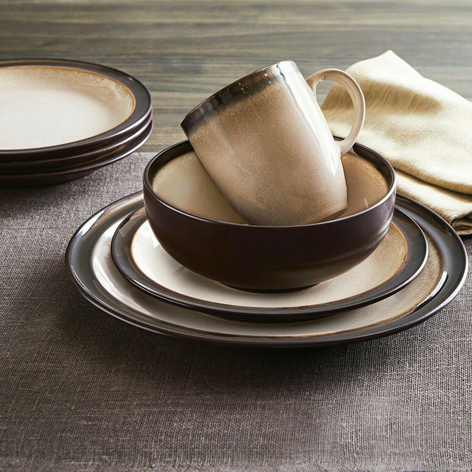 Beige Dinnerware Set Home Gardens