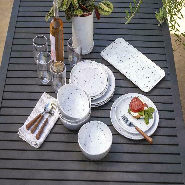 Better Gardens Grey Terazzo 12 pc Dinnerware Set, for 4
