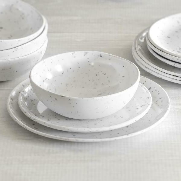 better homes and gardens grey terazzo melamine