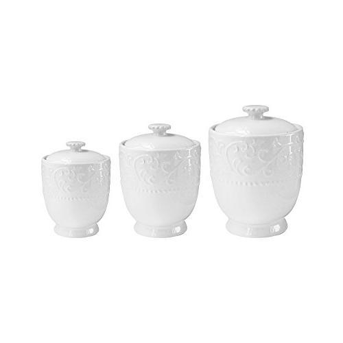 American Atelier Bianca 6 Piece Storage Jar Set