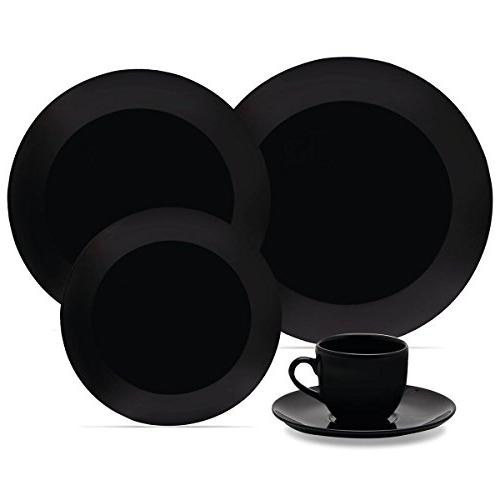 black collection coup dinnerware set
