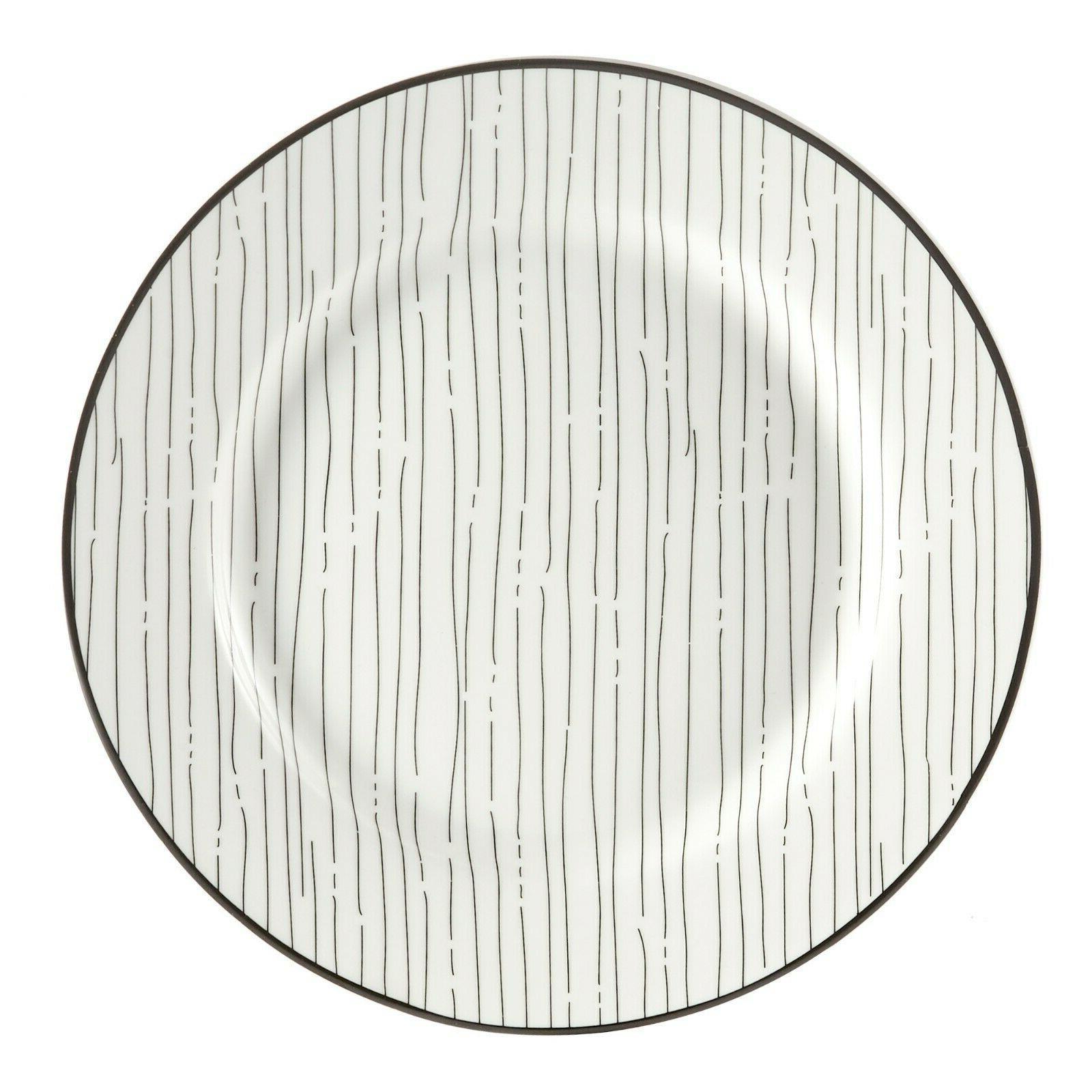 Black Sketch Dining Dinnerware for 4