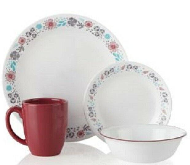 Corelle Blooms Dinnerware Set Service for 4 BRAND PATTERN