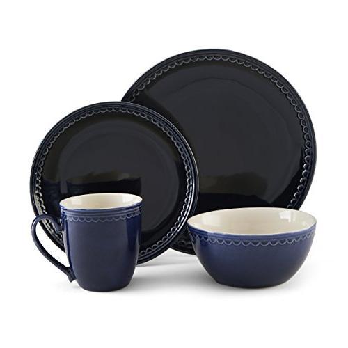 blue loop dinnerware set