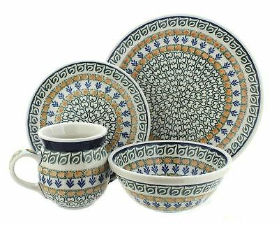 blue rose polish pottery herb garden 4