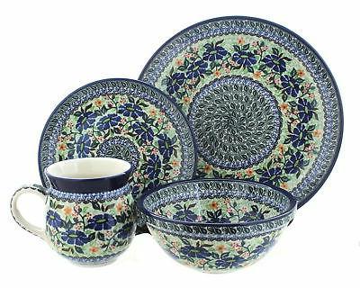 blue rose polish pottery lidia 16 piece