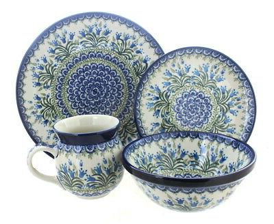 blue rose polish pottery tulip