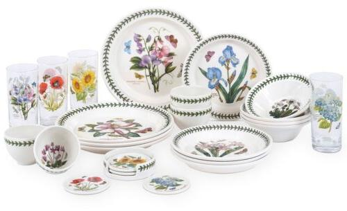 botanic garden 24 piece earthenware dinnerware set