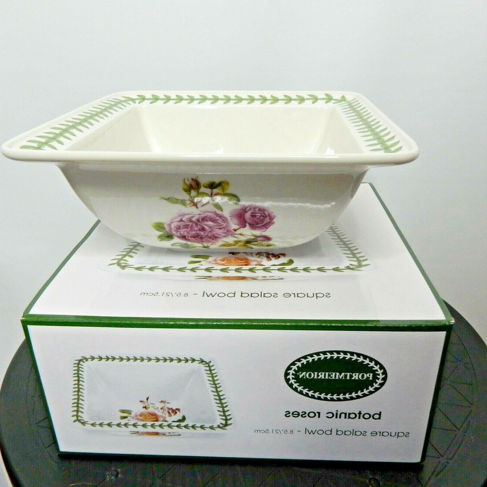 Portmeirion Botanic Roses Serving Bowl Square 8.5