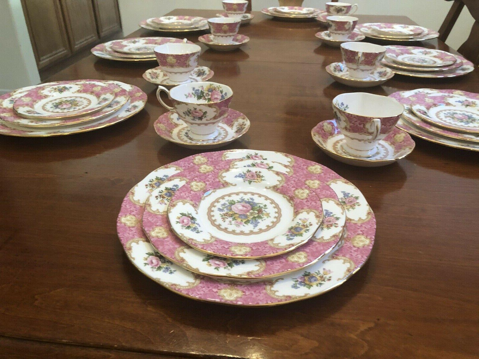 BRAND NEW Albert Lady Carlyle China for 8