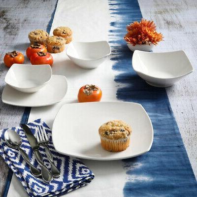 Dinnerware Square Microwave White,