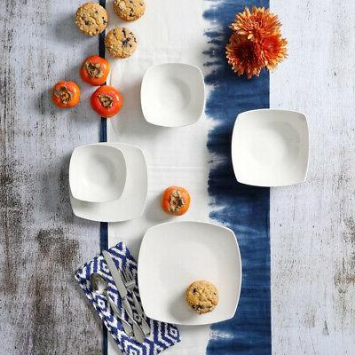 Dinnerware Soft Square Silhouette, White,