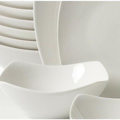 Dinnerware Square Silhouette, Microwave White,