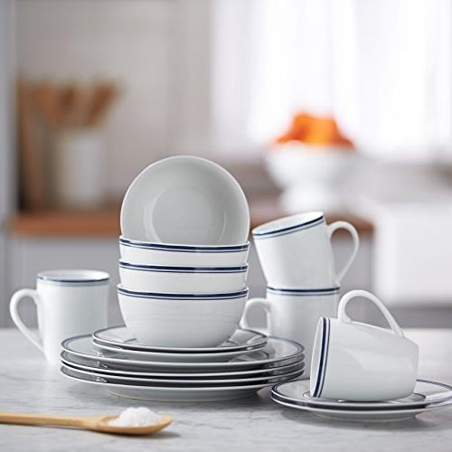 AmazonBasics Dinnerware Set, Service for 4