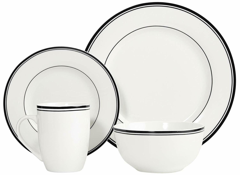 16-Piece Dinnerware Plates Soup Kitchen Pack