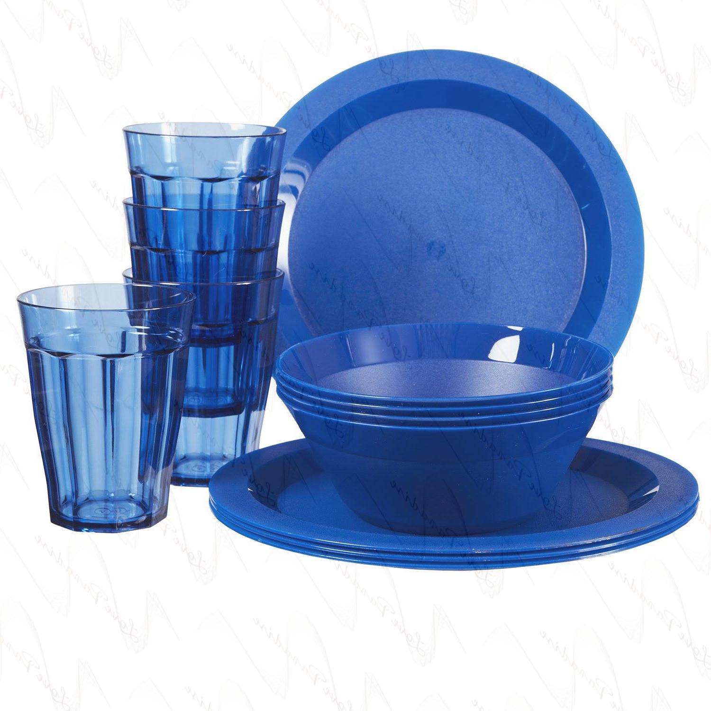 Cambridge Bowl and Tumbler Dinnerware   12-piece Blue