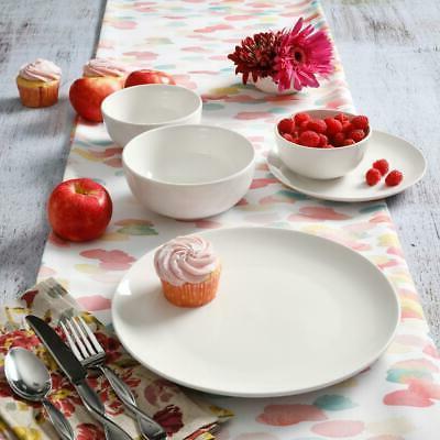 Dinnerware White for 8 Piece Round fine Ceramic Tableware New