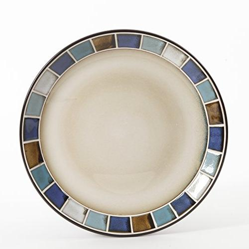 Gibson 114339.16R Azul 16 Piece Reactive Glaze and Blue