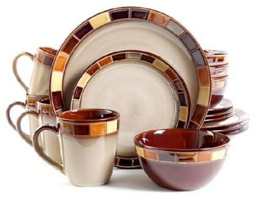 Gibson Casa Dinnerware Set 4,