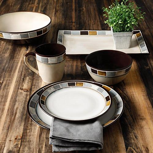 Gibson Gris Reactive Glaze Dinnerware and