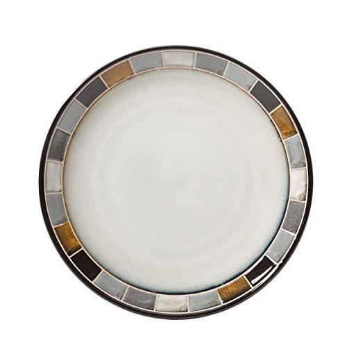 Gibson Elite Casa Gris Reactive Glaze Dinnerware Cream and Grey