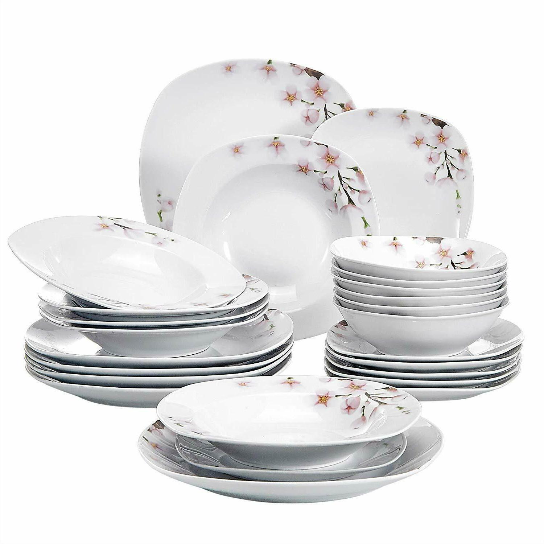 ceramic dinnerware set porcelain floral pattern plates
