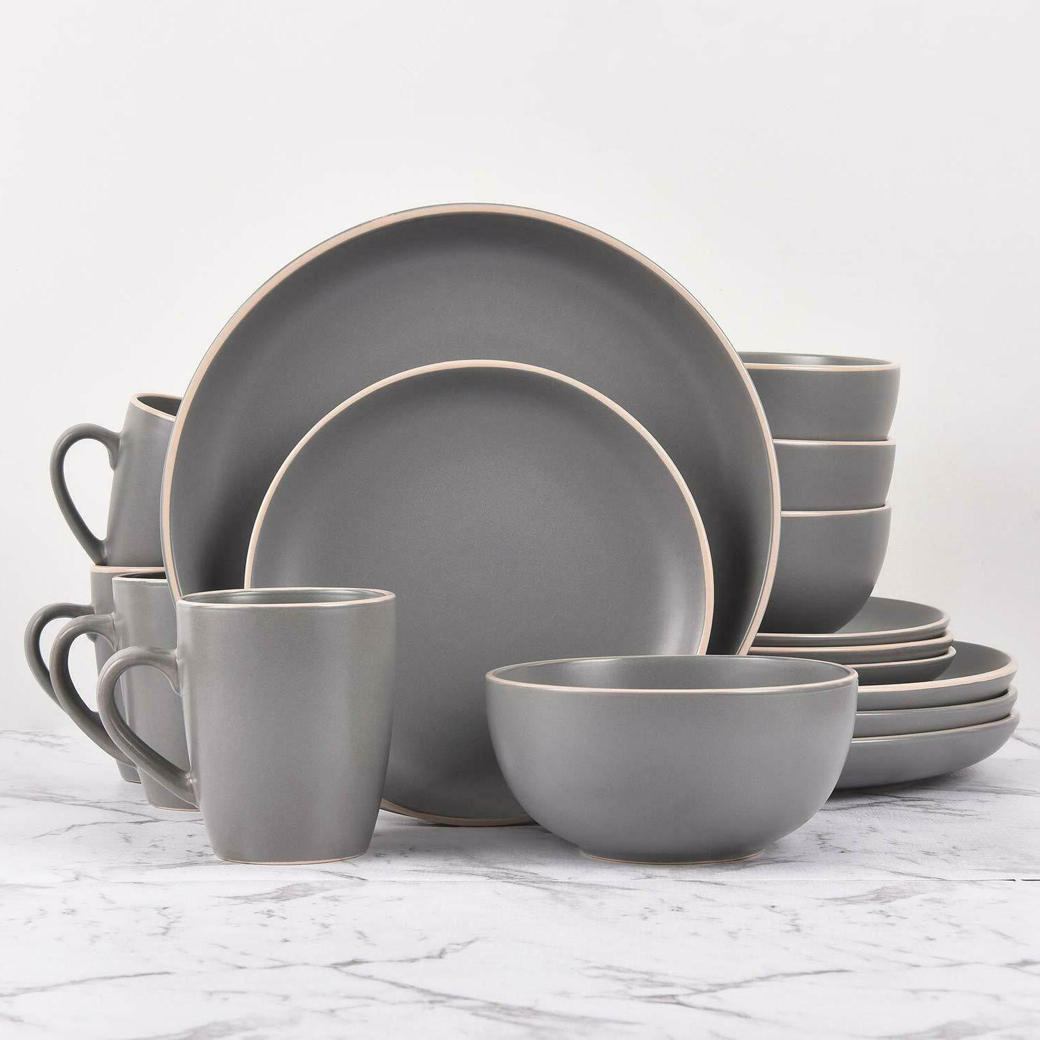 Ceramic Dinnerware Set Service For 4 Table Plates Bowls Mugs