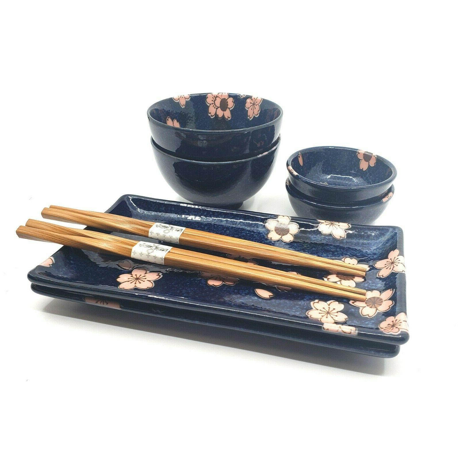 Ceramic Sushi for Two Set Dinnerware Sushi