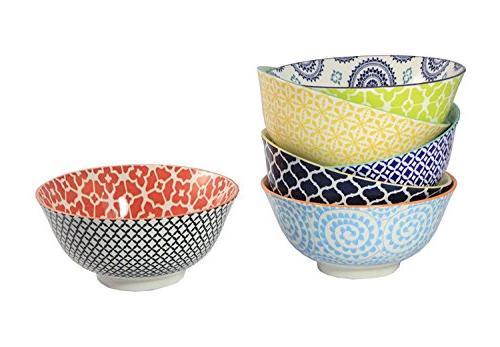 Chelsea Collection Set of 6 Certified International Porcelain Bowls