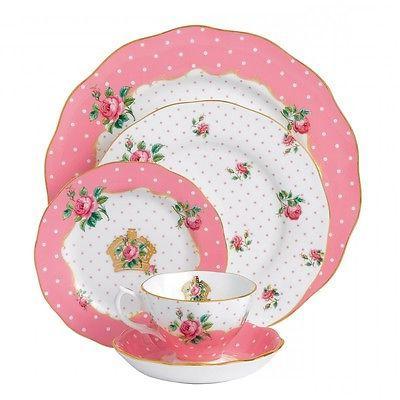 cheeky pink 40pc china set service