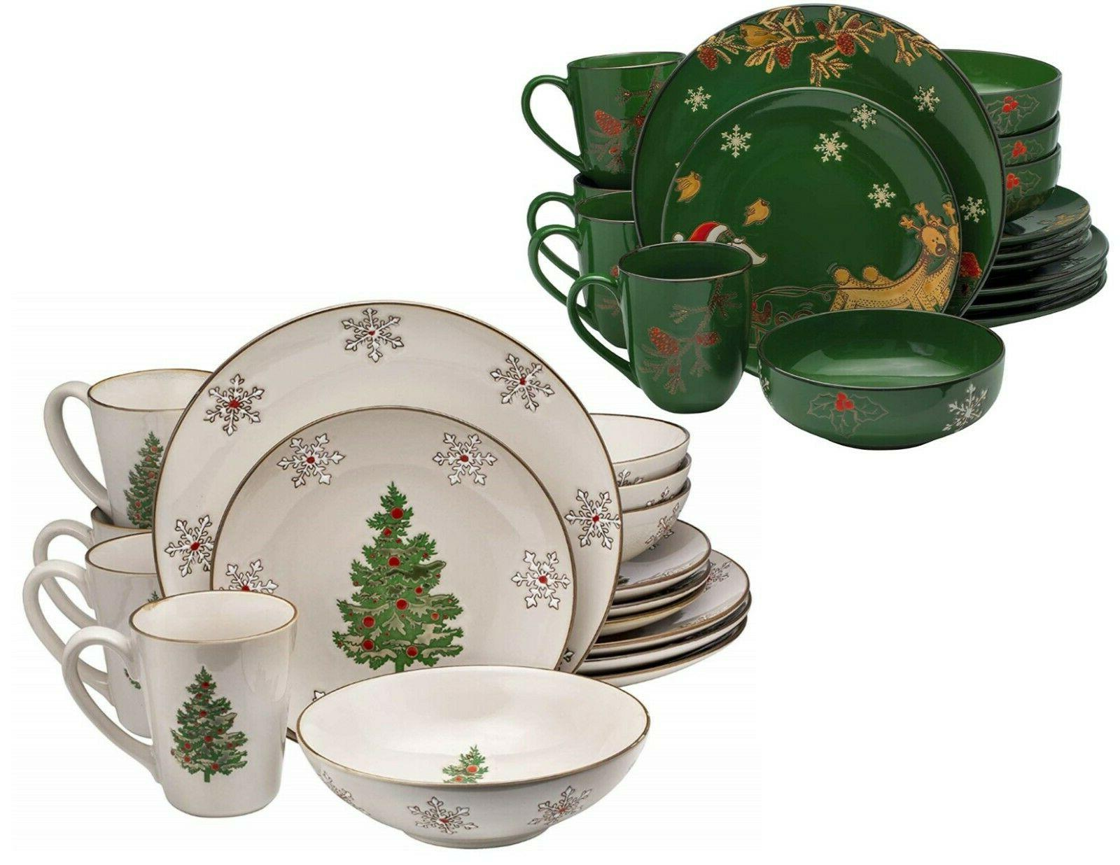 christmas ceramic dinnerware set dinner plates bowls