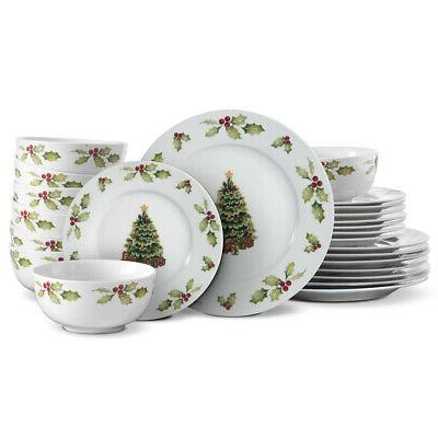 christmas day dinnerware set