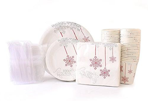 christmas disposable dinnerware