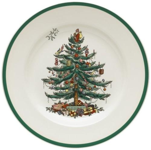 Spode® Christmas Tree Set of 4 Dinner Plates