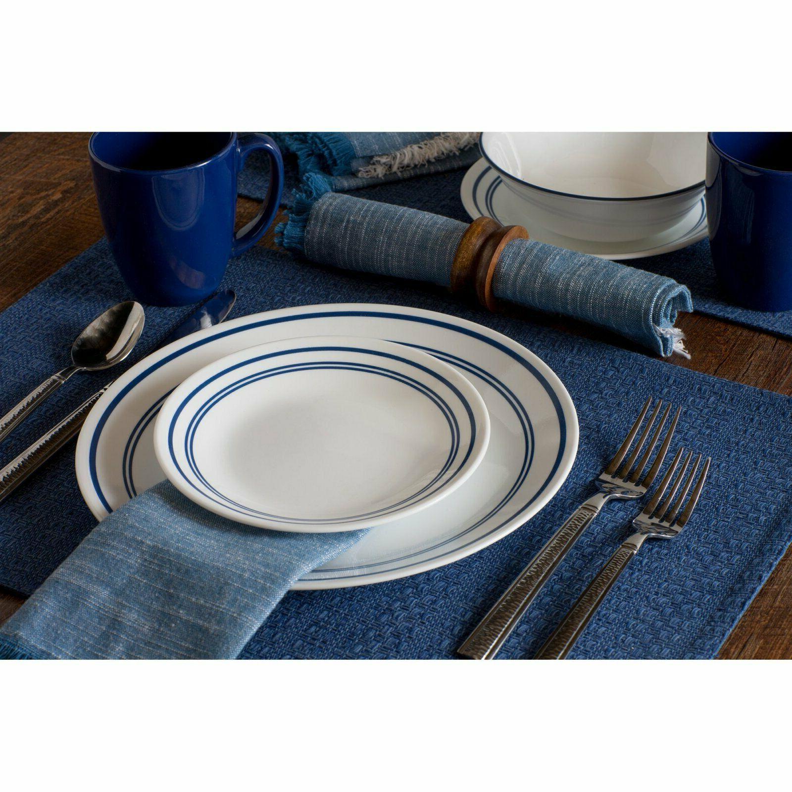 classic cafe blue dinnerware set