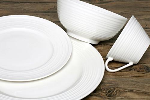 Melange 40-Piece Set   for 8   Dishwasher & Dinner Salad Soup Saucer