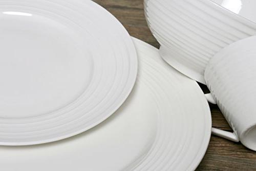 Melange Set 8   & Safe Dinner Plate, Salad Plate, Soup Saucer