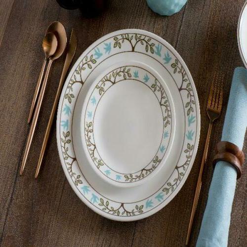 classic tree bird 16 piece dinnerware set