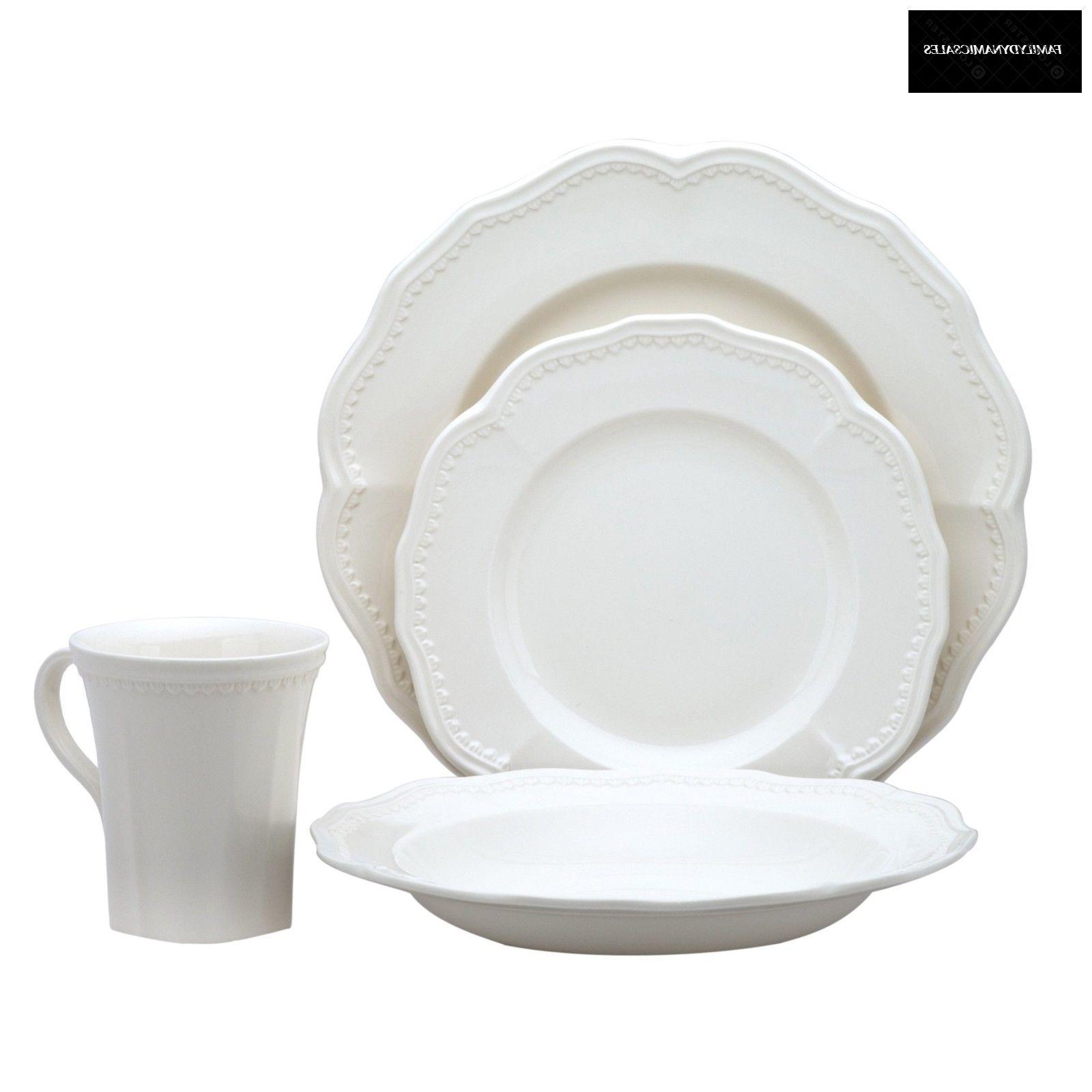 classic white 16 piece dining set kitchen