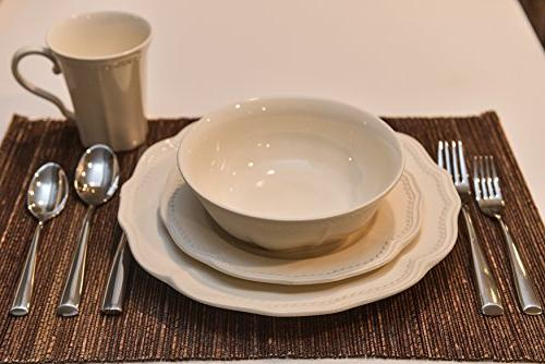 Red Classic White 16-Piece Dining