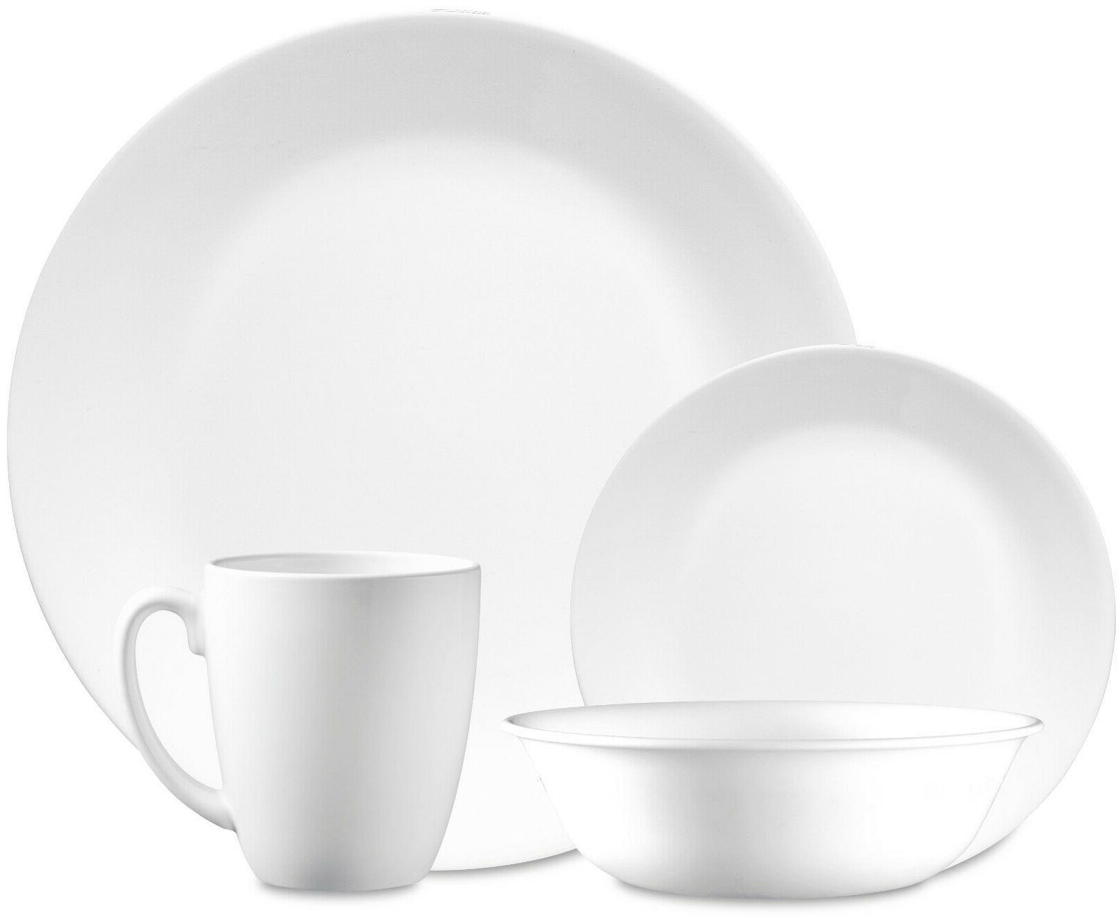 classic winter frost white round 16 piece