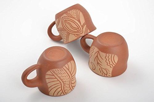 Handmade Clay For Tea Beautiful Ornaments Of 3