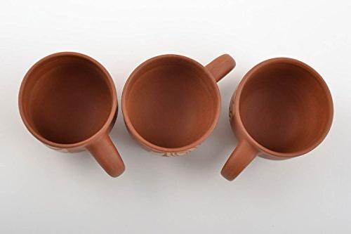 Handmade Clay Cups Tea And Coffee Beautiful 3