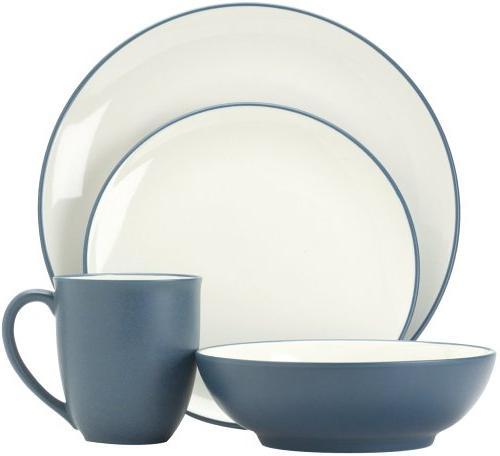 colorwave blue dinnerware set