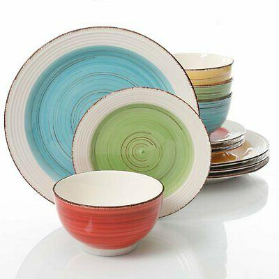 confetti band mix match dinnerware