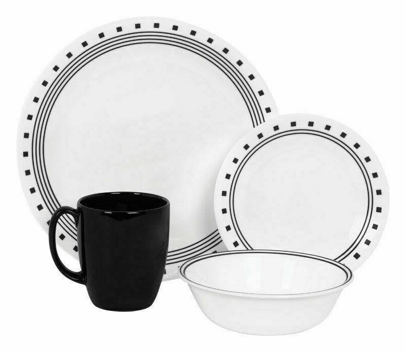 corelle livingware dinnerware set 16 piece city