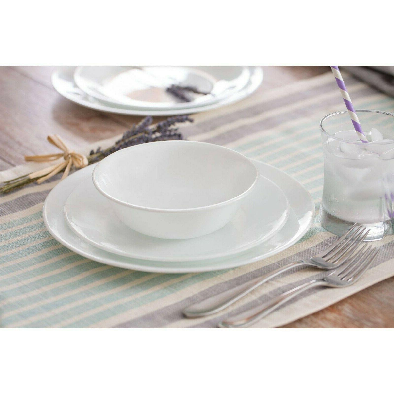 Corelle Livingware Winter White Dinnerware Set, Piece