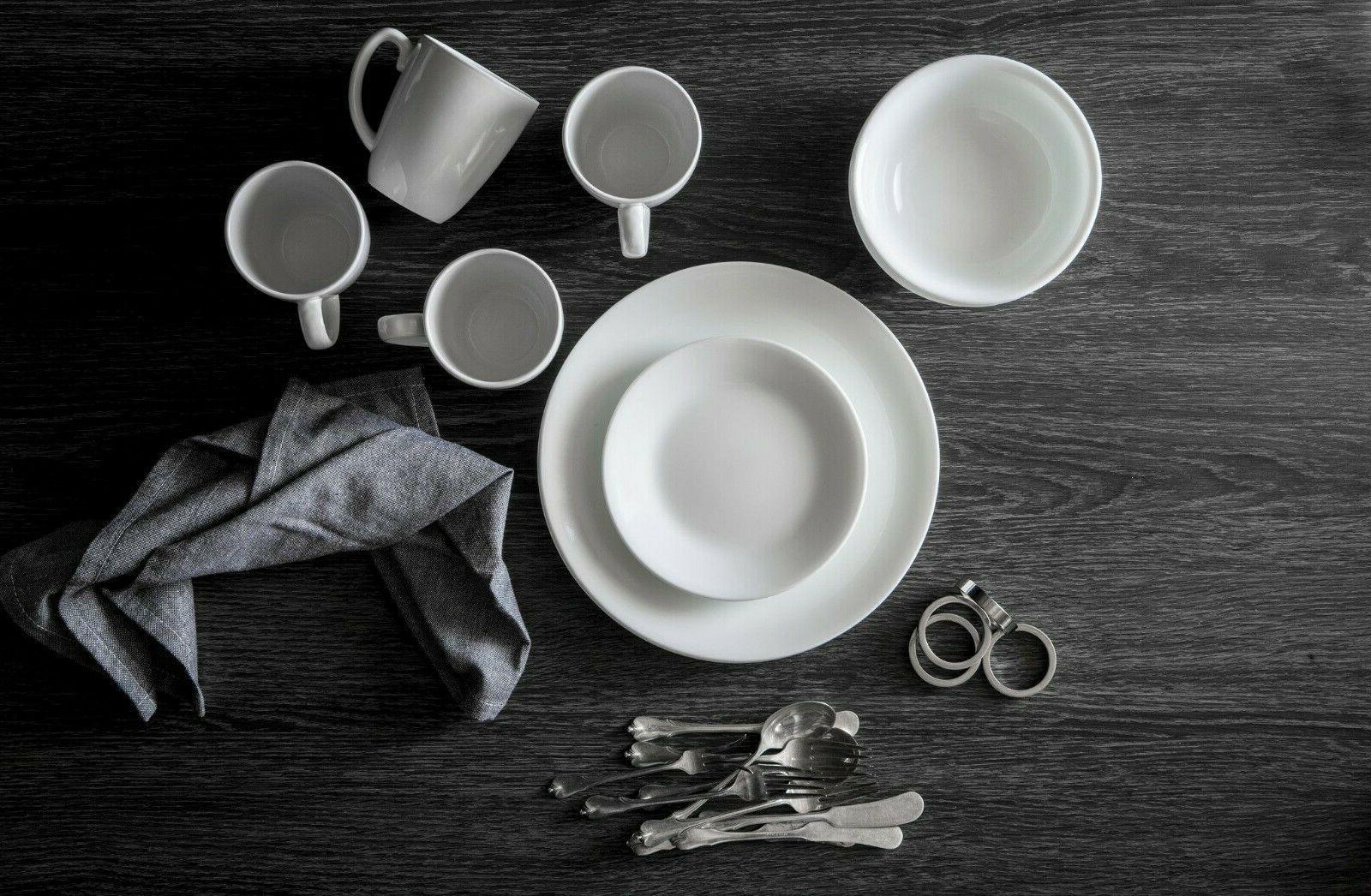 Corelle Livingware Winter Frost White Dinnerware 16 Piece